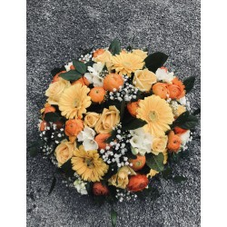 Coussin jaune-orange
