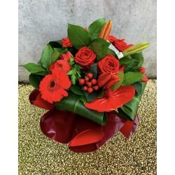 Bouquet bulle Rouge