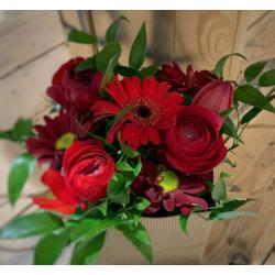 Sac fleuri rouge