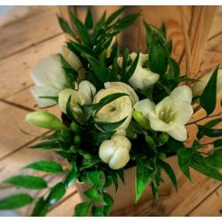 Sac fleuri blanc