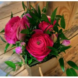 Sac fleuri rose foncé
