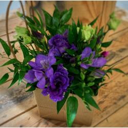 Sac fleuri violet