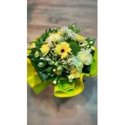 Bouquet bulle Jaune & Blanc