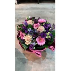 Bouquet bulle Violet & Rose